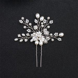 Accesoriu de par tip ac de par cu margele, perle si flori - EVA's