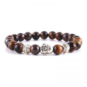 Bratara cu simbol budha si pietre semipretioase ochi de tigru - EVA's