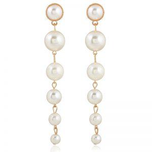 Cercei lungi cu perle - EVA's