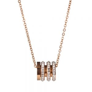 Colier auriu cu pandantiv cilindric - EVA's